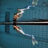 Serena zilveren zeemeermin staart met monovin en rugtas_