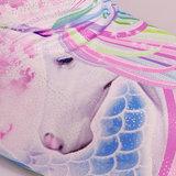 Unicorn glitter zeemeermin staart met bikini top, monovin en rugtas_