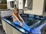 blauwe zeemeermin staart