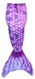 Paarse zeemeerminstaart met koord
