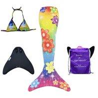 Iris zeemeerminstaart met bikini top, monovin en rugtas
