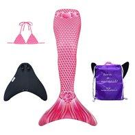 Hearts zeemeermin staart met bikini top, monovin en rugtas