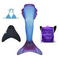 Delphi zeemeermin staart met bikini top, monovin en rugtas
