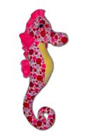 Roze zeepaardje knuffel