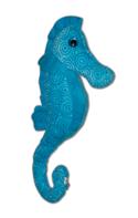 Blauwe zeepaard knuffel