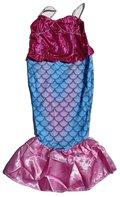 Zeemeermin jurkje blauw-roze maat 110